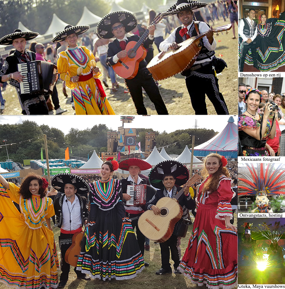 Mexicaanse groep parades in Nederland